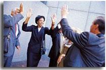 Successful Corporate Team